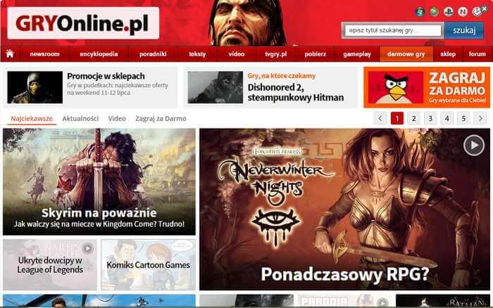 Zarabianie na grach komputerowych umożliwia również tworzenie serwisów tematycznych
