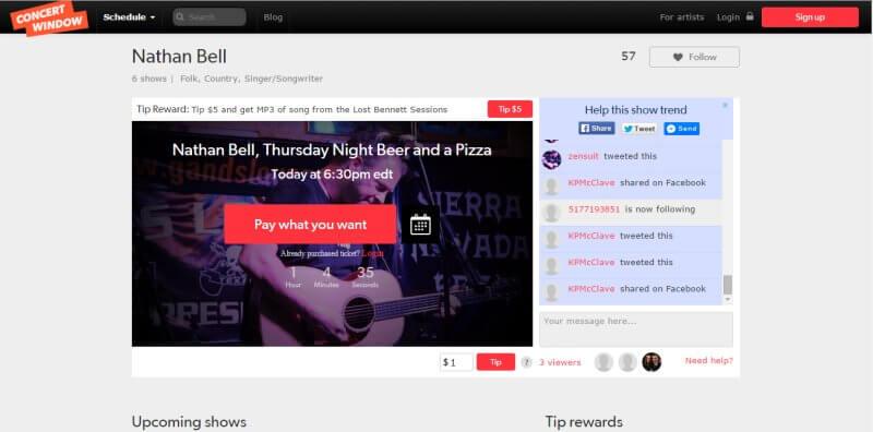 Zarabianie na muzyce w internecie poprzez koncerty na żywo