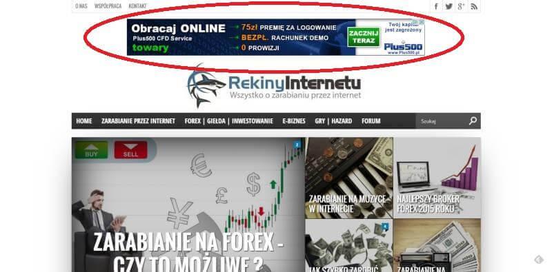 Jak szybko zarobić pieniądze przez internet - wyświetlanie reklam na stronie internetowej