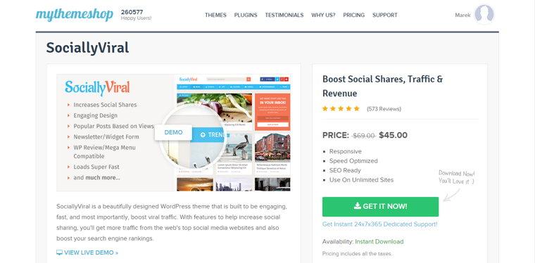 Płatne szablony WordPress na MyThemeShop