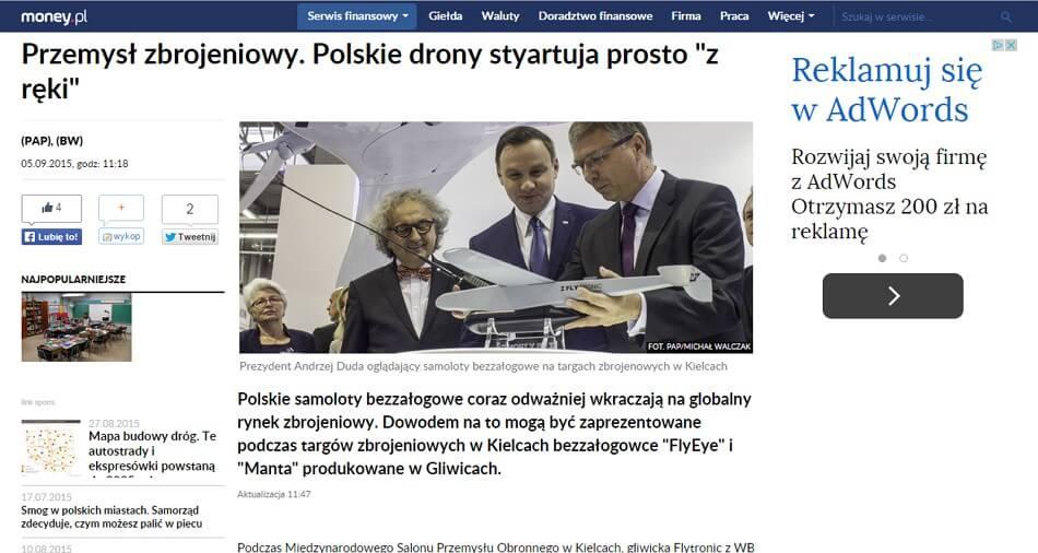 Zarabianie na AdSense - przykłady stron - Money.pl